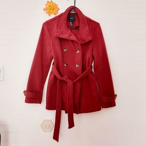 Forever21 Trench Coat Red